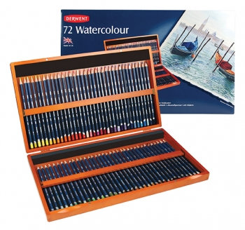 Watercolour Pencil Set (Derwent) in Wooden Box