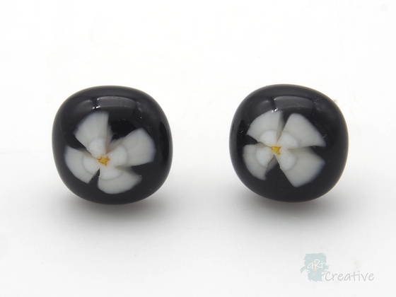 Fused Glass 'Murrine Dots' Stud Earrings  - Louise Ferrier
