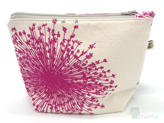 Small Washbag (Starburst - Pink/Grey) - Danielle Wade