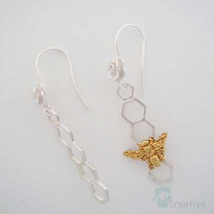 Bee Drop Earrings  - Avalon Jewellery