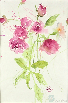 Roses - Helen Clarke (mounted)