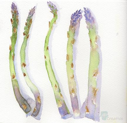 Kitchen Collection: Asparagus - Helen Clarke (framed)