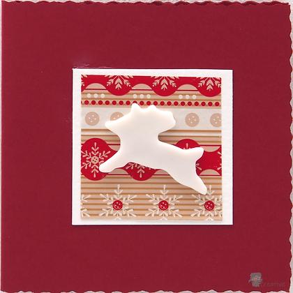 Christmas Card with Ceramic Motif by Emma Jayne Robertson
