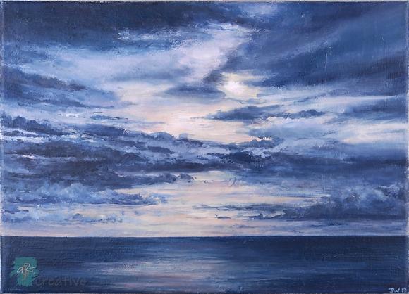 Sunset Over Suffolk - Julie Williams (canvas)