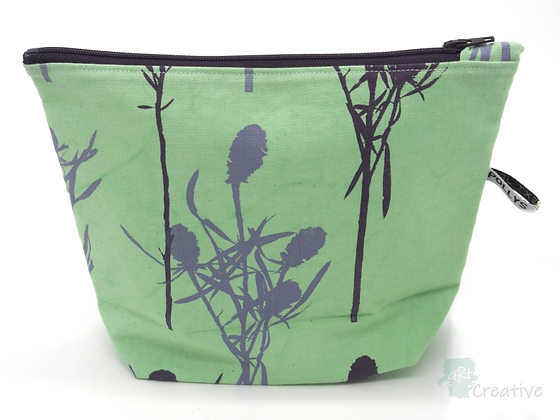 Small Washbag (Thistle - Green) - Danielle Wade