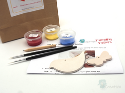Takeaway Taster - Ceramic Painting - Bird & Butterfly