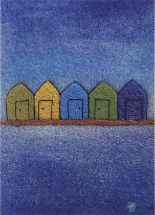 Rectangular Art Cards: Prints of Needle Felting - by Annie Brown