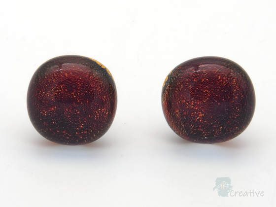 Dichroic Glass 'Dots' Stud Earrings  - Louise Ferrier