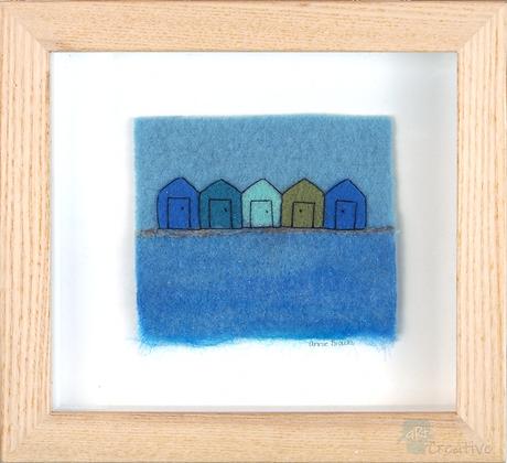 Beach Huts - Annie Brown (framed)