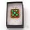 Thumbnail: Dichroic Glass Pendant Amber & Turquoise - Louise Ferrier
