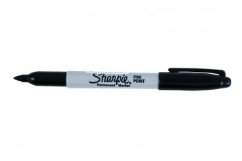 Pen: Permanent Marker Fine (Sharpie) Black