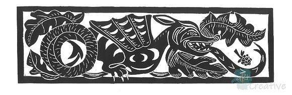 Here Be Dragon - Deborah Vass (mounted)