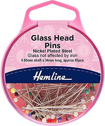Glass Head Pins (Hemline)