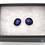 Thumbnail: Dichroic Glass Round Stud Earrings Purple Blue Glitter- Louise Ferrier