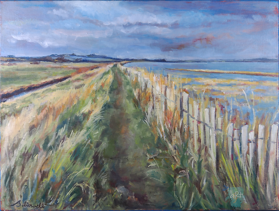 View Over the River Orwell - Briony Howell (framed)