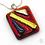 Thumbnail: Dichroic Glass Pendant Metallic Bronze  - Louise Ferrier