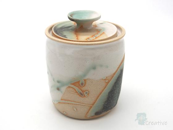 Jar with lid 'Shoreline' - Sue Bowerman