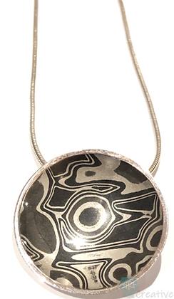 Silver Pendant Concave Disc - Helen Smith