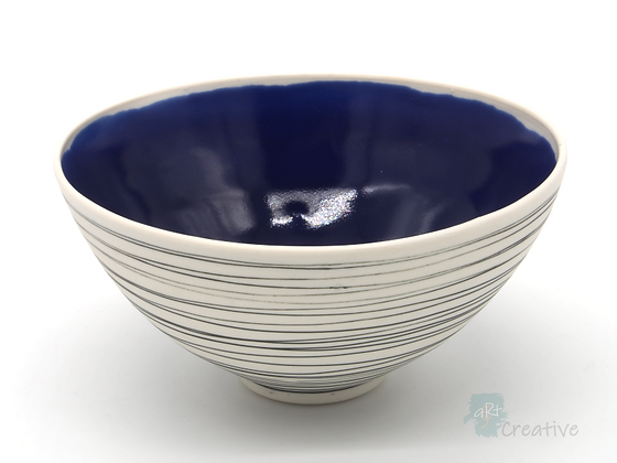 'Drift' Bowl (Blue) - Sue Bowerman