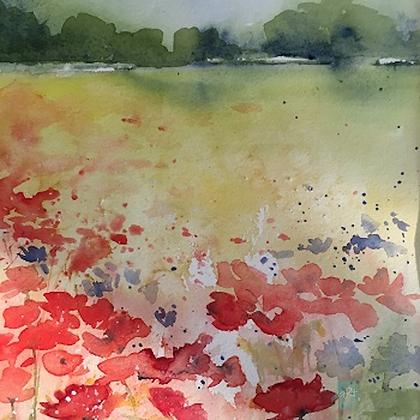 Poppy Meadow - Helen Clarke (framed)