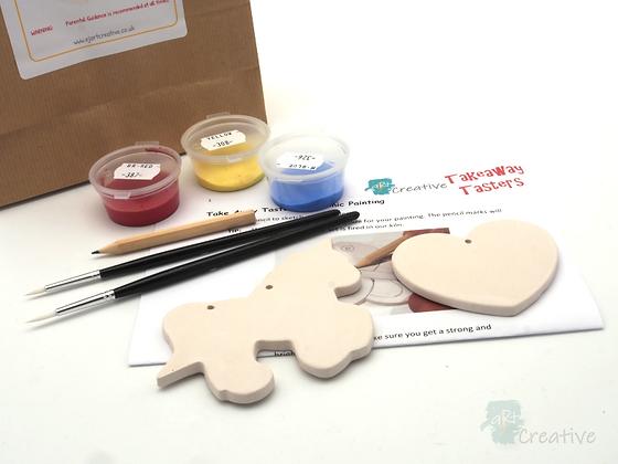 Takeaway Taster - Ceramic Painting - Unicorn Love