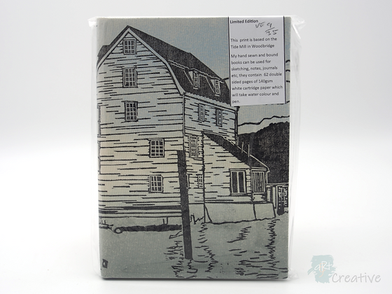 A5 Book 'Tide Mill with Boats '  - Janet Watson