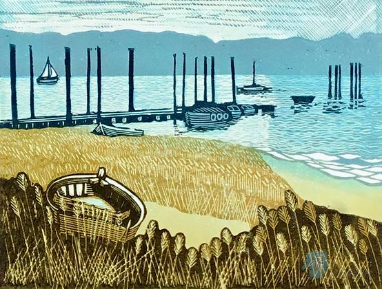 Pin Mill - Helen Maxfield (framed)