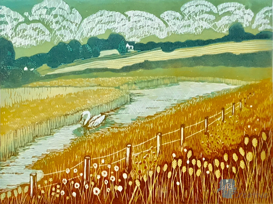 Wetland Bird Reserve, Waldringfield - Helen Maxfield (framed)