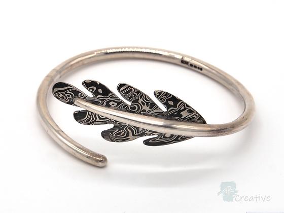 Oak Leaf Silver Bangle - Helen Smith