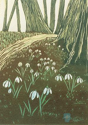 Snowdrops - Helen Maxfield (mounted)