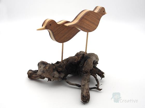Bird Sculpture Double  - Mike Bewley- Pope