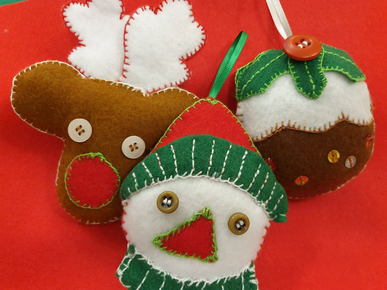 Felt Christmas 01- Takeaway Taster - Hand Embroidery - by TammiR