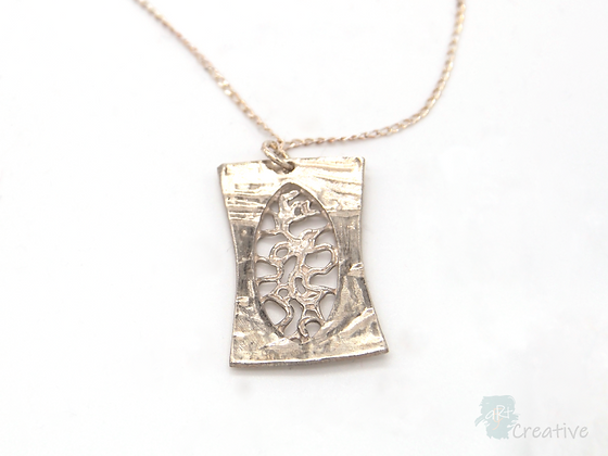 Necklace: Fine Silver 'Filigree' Pendant - Toni Peers