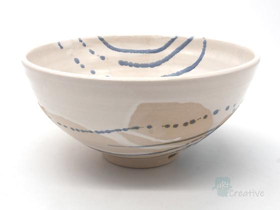Medium Deep Bowl 'Sea Beach' - Sue Bowerman