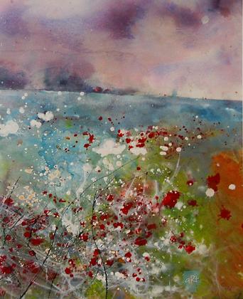 Field Poppies 2 - Mita Higton (framed)