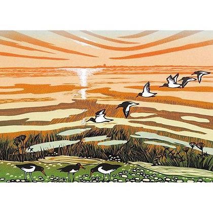 Rectangular Art Card: Salt Marsh at Low Tide by Rob Barnes