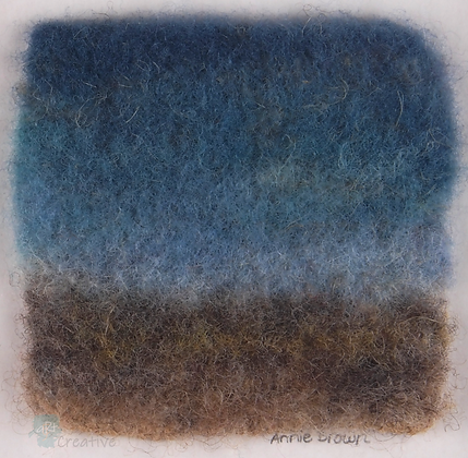 'Beach' Needle-felted Seascape - Annie Brown