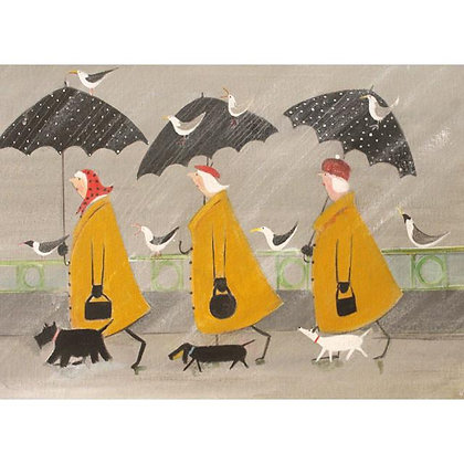 Rectangular Art Card:  Elegant Ladies Walking by Jennifer Verny-Franks