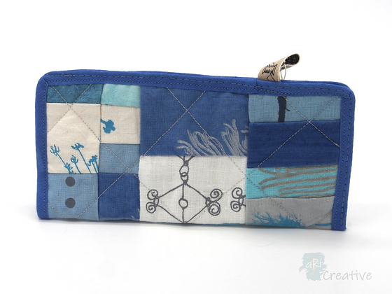 Glasses Pouch (Patchwork - Blues) - Danielle Wade