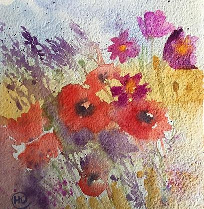 Meadow Flowers - Helen Clarke (framed)