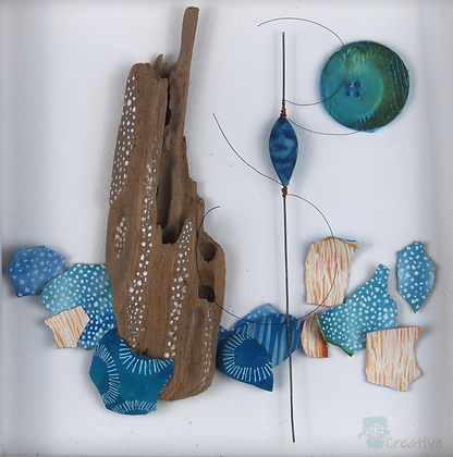 Textile Assemblage (framed) - Tracy Hetherington