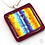 Thumbnail: Dichroic Glass Pendant Red, Gold & Blue - Louise Ferrier