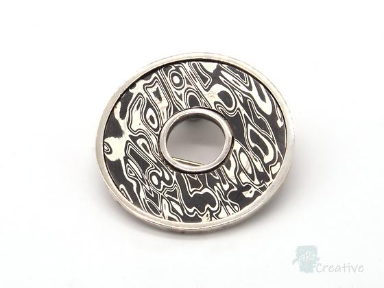 Silver Circular Disc Brooch- Helen Smith