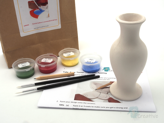 Takeaway Taster - Ceramic Painting - Vase (Curved)