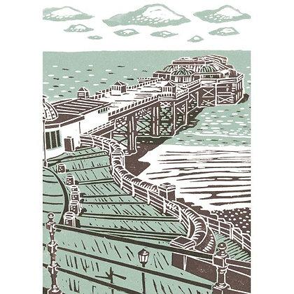 Rectangular Art Card: The Pier by James Green
