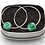 Thumbnail: Glass Bead Hoop Earrings  - Avalon Jewellery