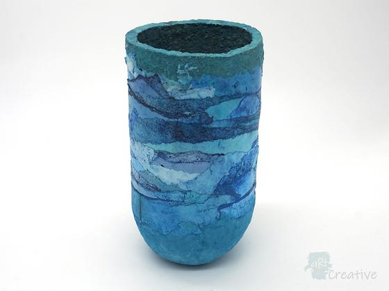 Blue Waves Vase- Ruth Brumby