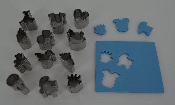 Cutters: Mini Shape Metal Cutters - Set 3 - Baby