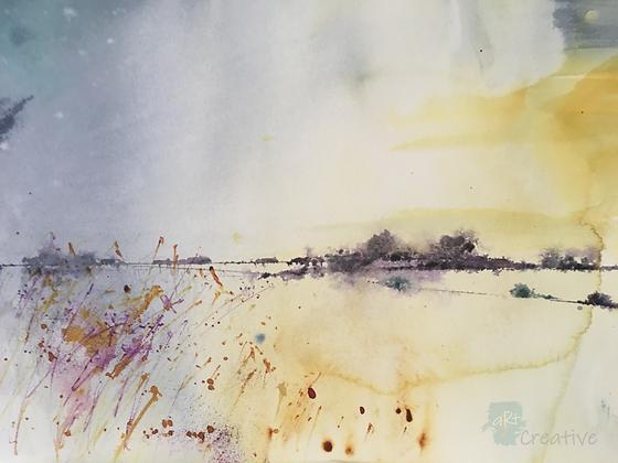 Morning Fen - Helen Clarke (framed)