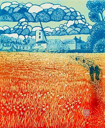 Saxtead Mill - Helen Maxfield (mounted)